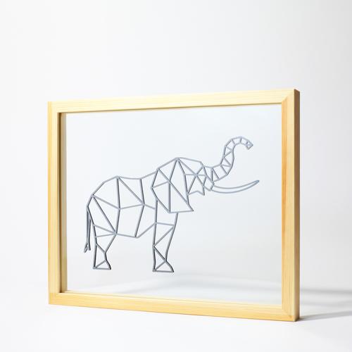 Cadre Elephant - Ornaté