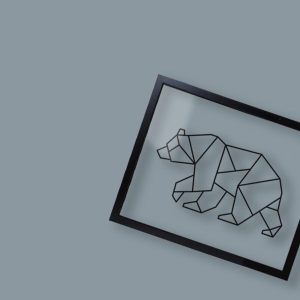 Cadre animal design et géométrique Ornaté