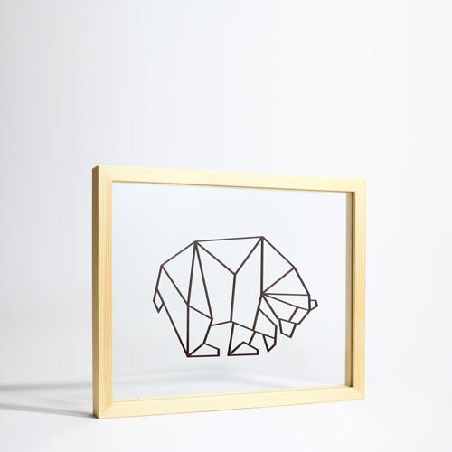 Tableau design et géométrique enfant Ornaté