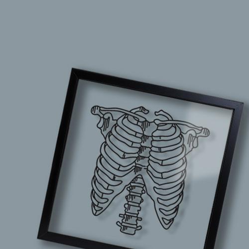 Tableau design et décalé transparent Ornaté