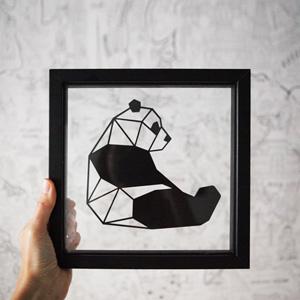 Cadre Panda- Ornaté